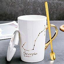 12 Sternbilder Becher Keramik Kaffeetassen