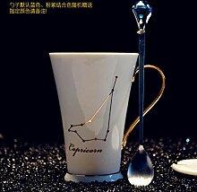 12 Sternbilder Weiß Und Gold Bone China Porzellan