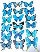 12 Stk. Schmetterlinge 3D Effekt Kühlschrank