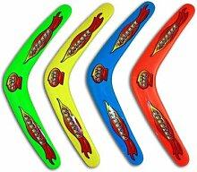 12Stück–Boomerang verschiedene Farben 29cm–Qualität coolminiprix®