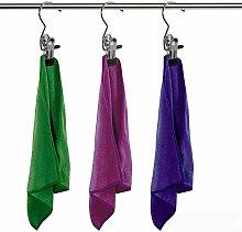 12 Stück Anti-Rutsch hochwertig Metall Kleiderbügel Wäscheklammern Stiefelklammer