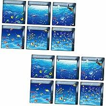 12 Stück Badewannenaufkleber Antirutschsticker