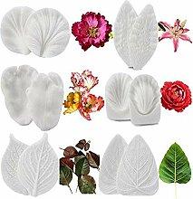 12 Stück Blütenblätter Textur Silikon Kuchen