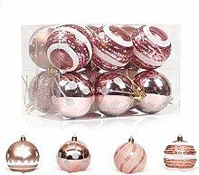 12 Stück Christbaumkugel-Ornamente, bunt,