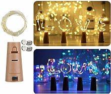 12 Stück Flaschenlicht, linarun 20 LEDs 2M