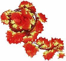 12Stück Girlanden Herbst-Blätter Efeu Dekoration Events Hochzeiten von Open Buy