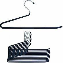 12 Stück hochwertige Metall Hosenbügel Hosen Bügel Gummiert Rutschfest 35cm