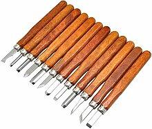 12 Stück Holzschnitt Hand Scorper Cutter