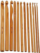 12 Stück Karbonisiert Bambus Kreis Häkeln Haken Stricknadeln Set 3-10mm