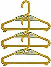12 Stück Kinderbügel, Kleiderbügel für Kinder, verschiedene Farben (gelb)