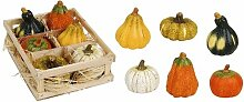 12 Stück Kürbis 9cm Deko Herbst Dekoration Halloweendeko Zierkürbis künstlich Ton neu