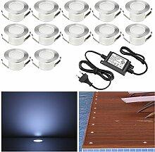 12 Stück LED Einbaustrahler led