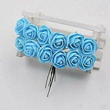 12 Stück/Los Schaum Mini Rose Kunstblumen