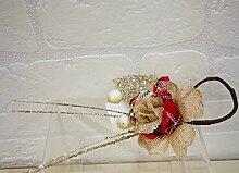 12Stück pink Schottische 27cm Blume Dekoration Weihnachtsbaum