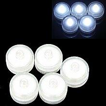 12 Stück runde Form Wasserdichte LED Kerze Hochzeits Dekoration Weiß