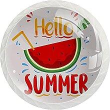 12 Stück Schrankknäufe Hello Summer