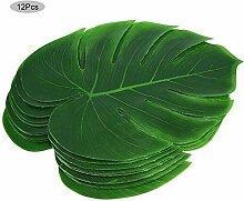 12 Stücke künstliche Pflanze Blatt grün