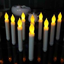 12 teile/los Flammenlose Kegel Kerze Großhandel