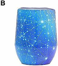 12 Unzen Edelstahl Weinglas Becher mit Deckel