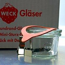 12 Weck Mini Sturzgläser 35ml / RR40 mit