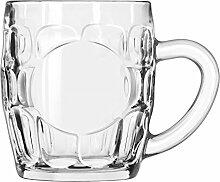 12 x Bierkrug, Bierkrug, Glas, transparent, 29 cl