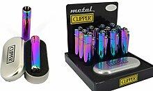 12x Clipper Rainbow Feuerzeug Metall Flint