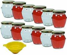 12 x Einmachglas 212 ml , Marmeladenglas mit