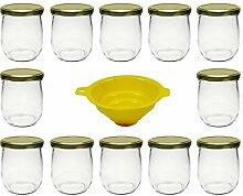 12 x Einmachglas 415 ml Marmeladenglas mit