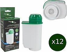 12 x FilterLogic CFL-901B - Wasserfilter ersetzen BRITA INTENZA Nr. TCZ7003 - TCZ7033 - TZ70003 - 575491 - 467873 Filterkartusche für Bosch / Siemens / Neff / Gaggenau Kaffeemaschine Kaffeevollautoma