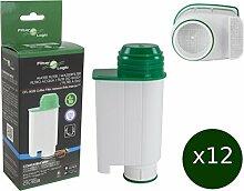 12 x FilterLogic CFL-902B - Wasserfilter ersetzen Saeco Nr. CA6702/00 - Brita ® Intenza+ Wasserfilterkartusche für Saeco / Philips / Gaggia Kaffeemaschine - Kaffeevollautoma