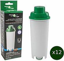 12 x FilterLogic CFL-950B - Wasserfilter für DeLonghi Kaffeemaschine - ersetzt DLS C002 / DLSC002 / SER3017 / SER 3017 / 5513292811 Filterkartusche - passend für ECAM ETAM ESAM EC685 EC860 BCO Modelle