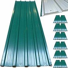 12 x Profilblech Trapezblech 129cm x 45cm = 7 m² -Dachblech für Gerätehaus Grün