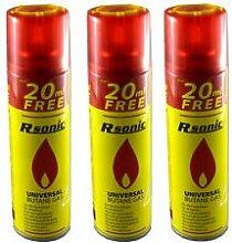12 x Rsonic Universal Butan Feuerzeug Gas à 270ml