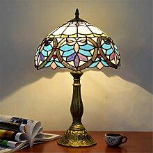 12-Zoll-Tiffany-Tischlampe Bunte