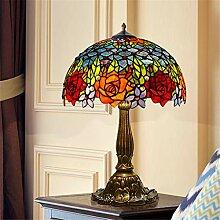 12-Zoll-Tiffany-Tischlampe Bunte Glastischlampe
