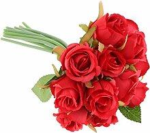 12 Zweige Romantische Rosenköpfe Blütenköpfe
