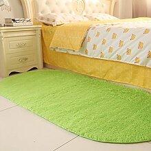 120 * 200cm Couchtisch Foyer Teppich, Bett Front Teppich, ovale Nachttischdecke, Zimmer Bettdecke ( Farbe : Fruit green )