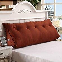 120 * 25 * 50cm Dreieck-Kissen Matten-Kissen-doppeltes Bett-weiches Beutel-Bett-Kissen-Bett-Rückseiten-entfernbares ( Farbe : Blau )