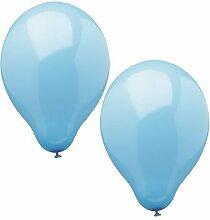 120 Ballons Ø 25 cm hellblau
