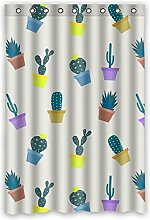 "120cm x 183cm (121,9x 182,9cm) Badezimmer Dusche Vorhang, Universal Grün Cactus Speziell Zugeschnittene Wasserdicht Badezimmer Duschvorhang Schimmel, Polyester, C, 48"""" x 72"