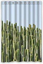 "120cm x 183cm (121,9x 182,9cm) Badezimmer Dusche Vorhang, Universal Grün Cactus Speziell Zugeschnittene Wasserdicht Badezimmer Duschvorhang Schimmel, Polyester, B, 48"""" x 72"