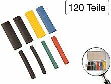 120 tlg Sortiment Schrumpfschläuche farbig 4mm - 8mm