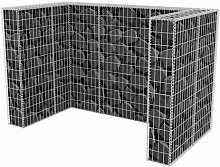 120 x 100 cm Mülltonnenbox Cowie aus Metall