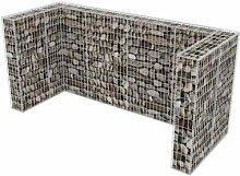 120 x 100 cm Mülltonnenbox Cowling aus Metall
