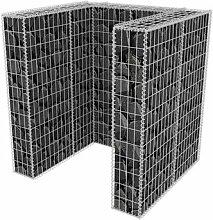 120 x 100 cm Mülltonnenbox Coyer aus Metall