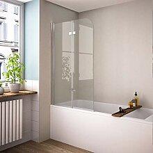 120 x 140 cm Duschabtrennung Badewannenaufsatz