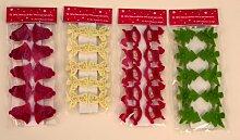 120 x Holzklammer Weihnachten Tanne Schaukelpferd Glocke Engel Dekoklammer