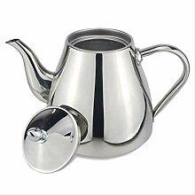 1200 ml Edelstahl Teekanne mit Teesieb Teekanne