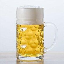 1200ML großes Bierglas Becher Thick Kristallglas