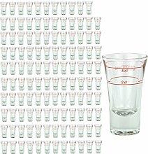 120er Set Schnapsglas DUBLINO mit Eichstrich, 2 cl